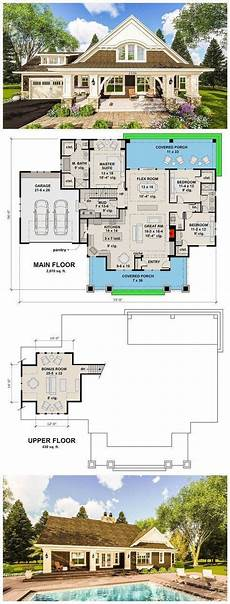 craftsman house plans with porches craftsman house plan with two large porches craftsman