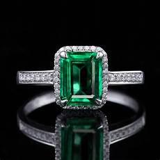 emerald and diamond wedding ring 1 50 carat princess cut emerald and diamond halo