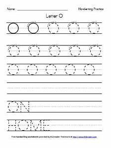 pre k letter o worksheets 24402 handwriting practice letter o worksheet for pre k 2nd grade lesson planet