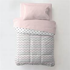 pink and gray chevron toddler bedding carousel designs