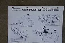sachs dolmar chain saw parts sachs dolmar 101 chain saw illustrated spare parts list more in our store v ebay
