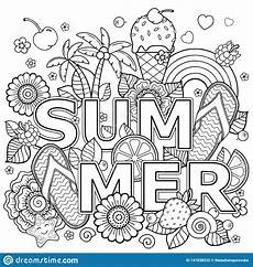 coloring book for summer holidays