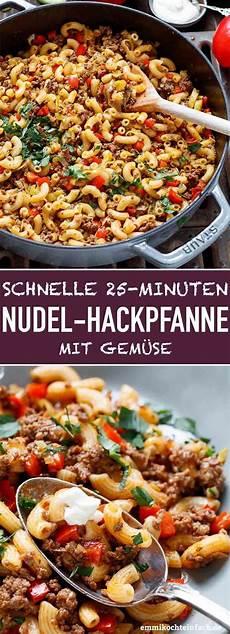 schnelle rezepte mit hackfleisch schnelle hackpfanne mit h 246 rnchennudeln gem 252 se rezept