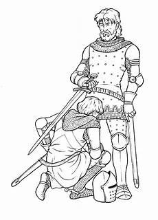 Malvorlagen Ritter Und Drachen Coloring Page Knighted