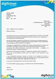 exemple de qualité lettre de demande de stage logistique application letter