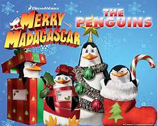 weihnachten cartoon film merry the penguins of madagascar image wallpaper