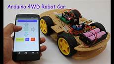 auto forwarding program smartphone controlled arduino 4wd robot car part ii
