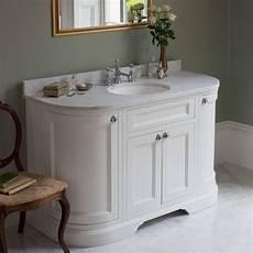 Bathroom Ideas Vanity Units by Burlington Matt White 1340mm Freestanding Curved Vanity