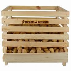 caisse 224 pommes de terre en bois
