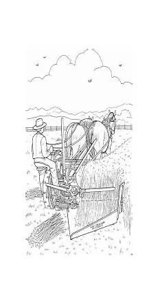 mann mit pferden ausmalbild malvorlage bauernhof