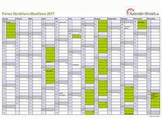 Ferien Nordrhein Westfalen 2017 Ferienkalender Zum