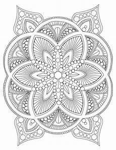 abstract mandala coloring page for adults diy printable