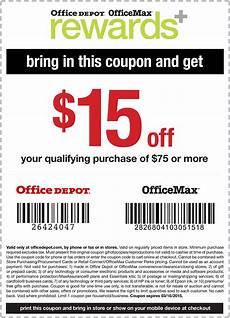 Office Depot Coupons October 2015 officemax coupons 15 75 at office depot