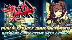 Persona 4 Arena Akihiko Tutorial Chie Oki Breaker