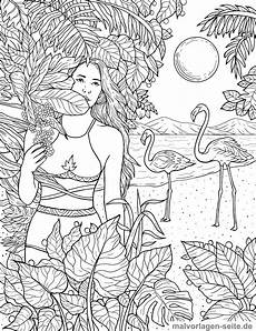 Malvorlagen Erwachsene Coloring Page Adults On The