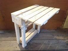 Table Pliante En Bois De Palette Pour Petit Balcon