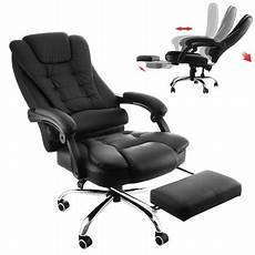 Office Chairs That Recline by Bestequip Executive Office Chair With Footrest Pu Leather