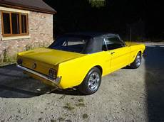 1966 ford mustang convertible in yellow 289ci v8 classic american muscle car for sale