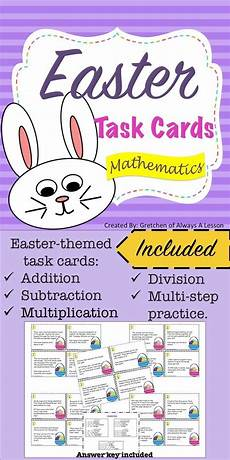 free worksheets in for grade 18659 easter math word problem task card activity math word problems task cards word problems