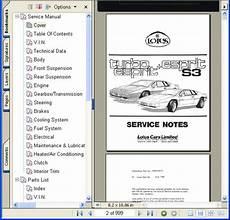 service manuals schematics 2001 lotus esprit regenerative braking lotus esprit turbo s3 service workshop parts manual ebay