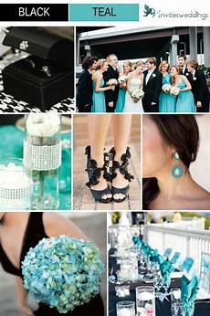 classic black wedding color ideas and wedding invitations 2014 teal tie teal and teal
