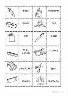 worksheets school supplies 18456 school supplies domino esl worksheets for distance learning and physical classrooms