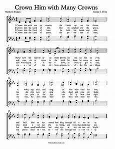 crown him with many crowns sheet music pdf free choir sheet music crown him with many crowns