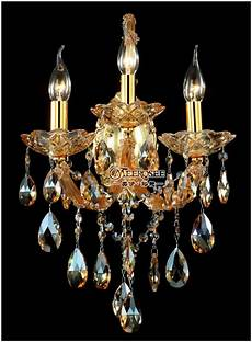 maria theresa crystal wall sconces light fixture with 3