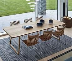 rechteckiger esstisch aus holz design tisch