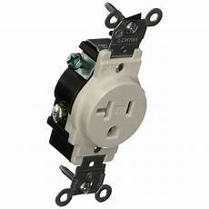 leviton 20 commercial grade double pole single outlet white r52 05821 0ws the home depot