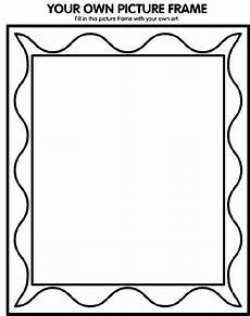 your own picture frame coloring page crayola
