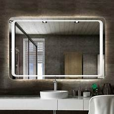 Heated Bathroom Mirror With Light modern large heated white led illuminated bathroom mirror