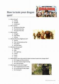 how to train a dragon movie quiz worksheet free esl printable worksheets made by teachers