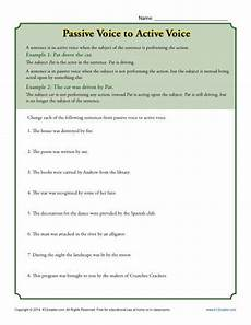 grammar worksheets active and passive voice 24694 passive voice to active voice subject predicate worksheets