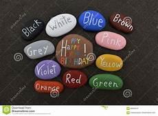 mehrfarbige steine f 252 r alles gute zum geburtstag 252 ber