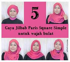Tutorial 5 Gaya Jilbab Square Simple Dan Cantik