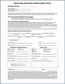 ach payment authorization form template template 2