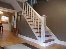 gray walls paint color is metropolis by benjamin moore for the home entryway stairways