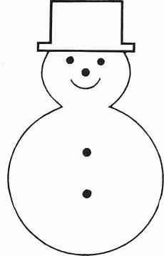 Malvorlage Schneemann Umriss Free Printable Snowman Template Ornament