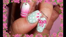 tutorial nail fiori bows flowers stripes dots on nails