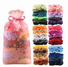 60 pcs velvet hair scrunchies for 8 99 shipped reg