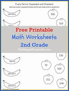 math worksheets for 2nd grade free printables the happy home schooling