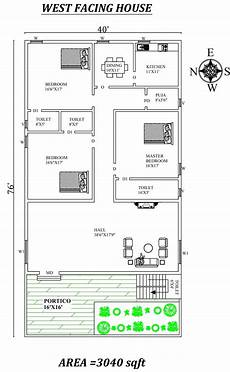 west face house plans per vastu 3 bhk west facing house plan as per vastu shastra autocad