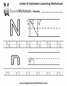 learning the letter n worksheets 24151 free letter n alphabet learning worksheet for preschool alphabet worksheets preschool
