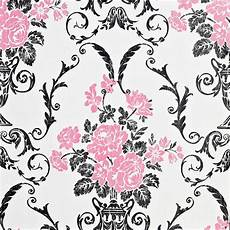 black pink white wallpaper floral flower damask wallpaper white pink black luxury