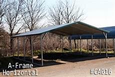 a frame horizontal roof carports boxed eave carports steel carports