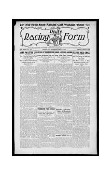 daily racing form n wednesday may 14 1930 daily racing form free download borrow and