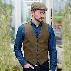 brown vest for tweed made in ireland