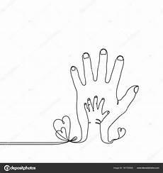 dessin au trait continu d un enfant de b 233 b 233 224 la sur