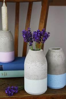 Sch 246 Ne Vase Aus Beton Einfach Selber Gie 223 En